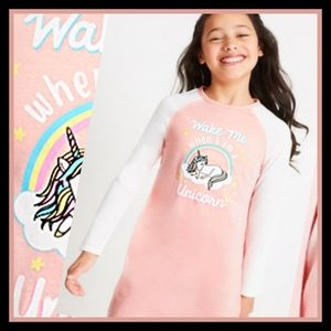 FABKIDS Unicorn Graphic Sleep Dress Nightgown Tee